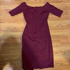 Lulu's Off the shoulder burgundy dress